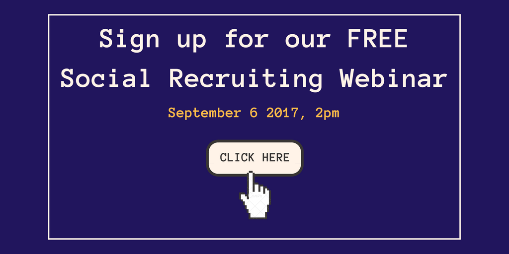Sign up for our free social recruiting webinar