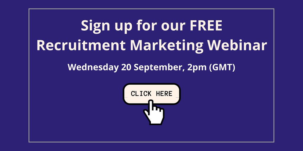 Sign up for our webinar to learn more about Recruitment Marketing Strategy